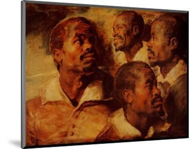 Four Negro Heads-Peter Paul Rubens-Mounted Art Print