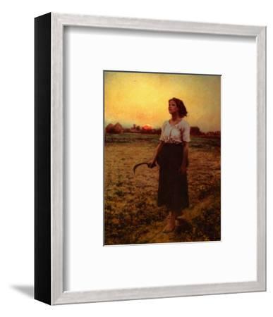 The Song of the Lark-Jules Breton-Framed Art Print