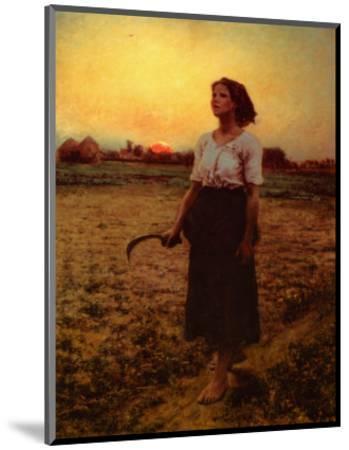 The Song of the Lark-Jules Breton-Mounted Art Print