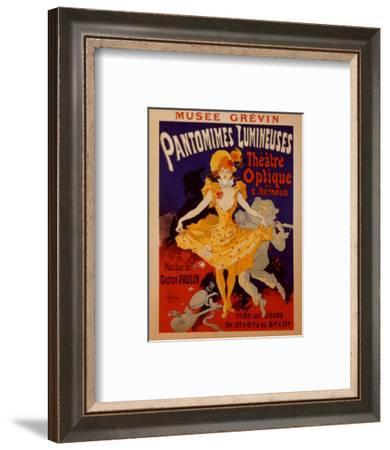 Pantomimes Lumineuses-Jules Ch?ret-Framed Art Print