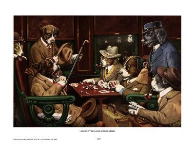His Station And Four Aces-Cassius Marcellus Coolidge-Art Print