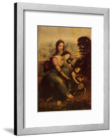 The Virgin and Child with St. Anne-Leonardo da Vinci-Framed Art Print