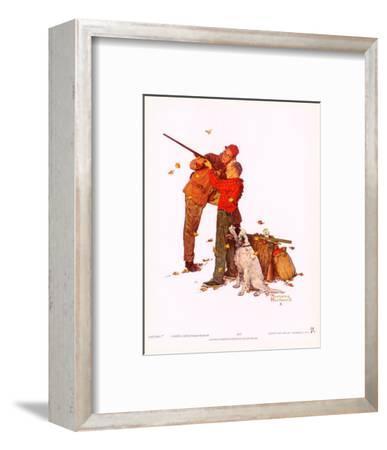 Careful Aim-Norman Rockwell-Framed Art Print