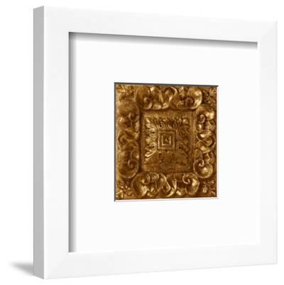 Copper Leaf Rosette-George Caso-Framed Art Print