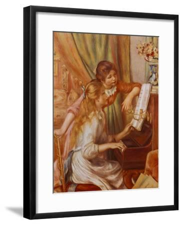 Two Girls at the Piano-Pierre-Auguste Renoir-Framed Art Print