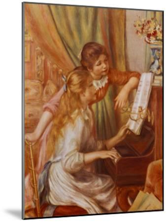 Two Girls at the Piano-Pierre-Auguste Renoir-Mounted Art Print