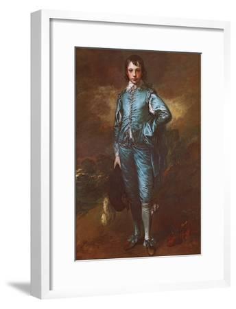 The Blue Boy-Thomas Gainsborough-Framed Art Print