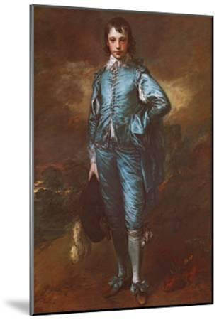 The Blue Boy-Thomas Gainsborough-Mounted Art Print