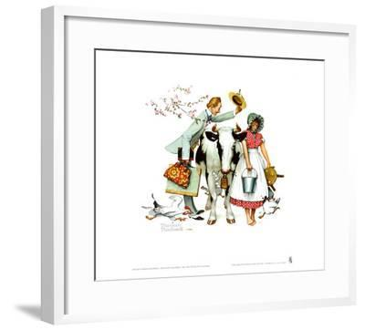 Traveling Salesman-Norman Rockwell-Framed Art Print