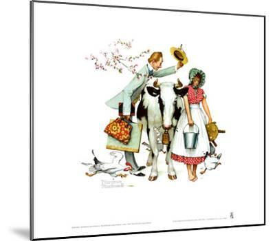 Traveling Salesman-Norman Rockwell-Mounted Art Print