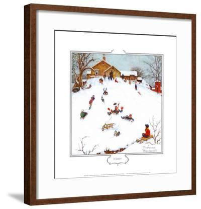 Deadman's Hill-Norman Rockwell-Framed Art Print