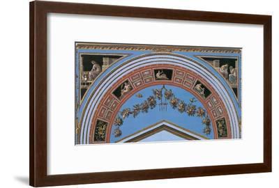 Loggia in the Vatican IV (detail)-Raphael-Framed Art Print