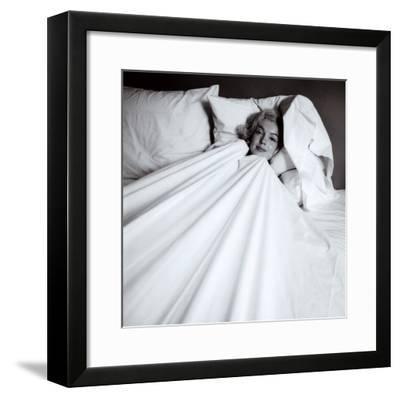 Marilyn in Bed-Milton H^ Greene-Framed Art Print