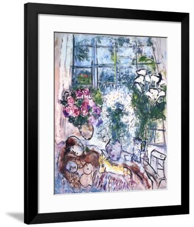 The White Window-Marc Chagall-Framed Art Print