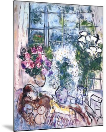 The White Window-Marc Chagall-Mounted Art Print