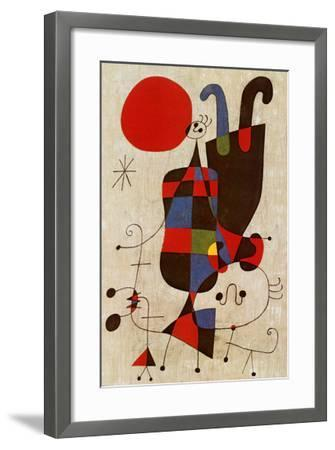 Inverted Personages-Joan Mir?-Framed Art Print