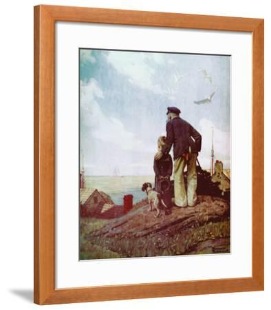Outward Bound-Norman Rockwell-Framed Art Print