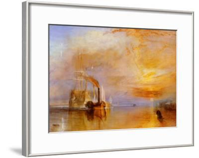 The Fighting Temeraire-J^ M^ W^ Turner-Framed Art Print
