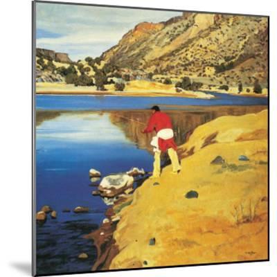 Along the Rio Grande-Walter Ufer-Mounted Art Print