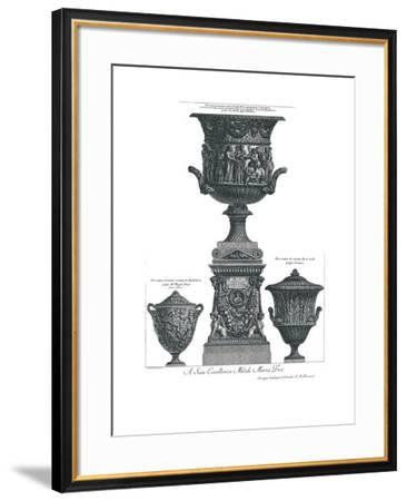 Vaso Antico-Giovanni Battista Piranesi-Framed Art Print