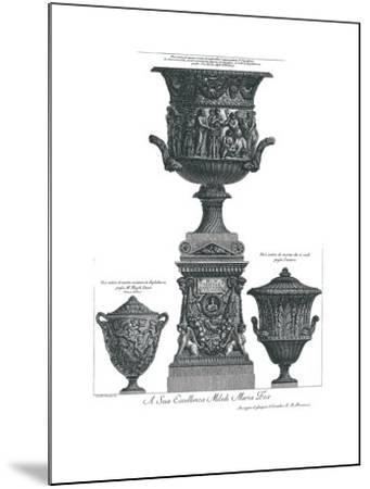 Vaso Antico-Giovanni Battista Piranesi-Mounted Art Print