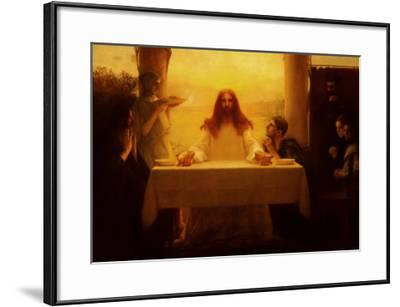 Christ and the Disciples at Emmaus-Pascal Adolphe Jean Dagnan-Bouveret-Framed Art Print