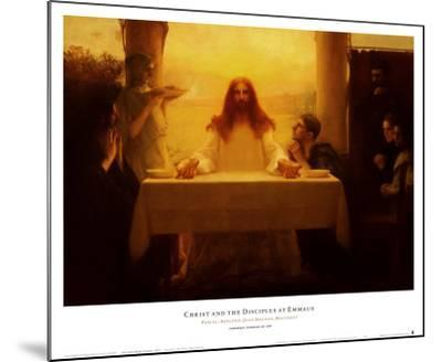 Christ and the Disciples at Emmaus-Pascal Adolphe Jean Dagnan-Bouveret-Mounted Art Print