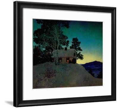 Dusk-Maxfield Parrish-Framed Art Print