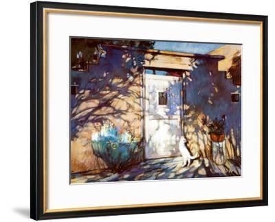 Santa Fe Shadows-Gary Blackwell-Framed Art Print