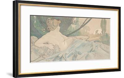 Dawn-Alphonse Mucha-Framed Art Print