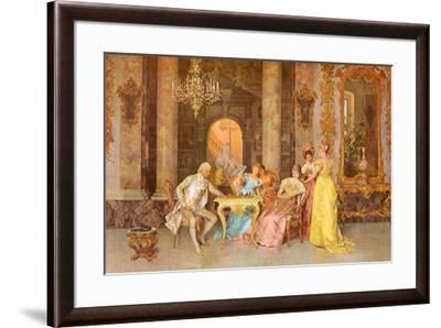 The Chess Game Art Print By F Beda Art Com