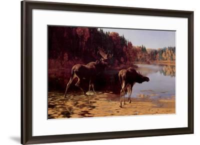 Monarchs of the Wilderness-Carl Rungius-Framed Art Print