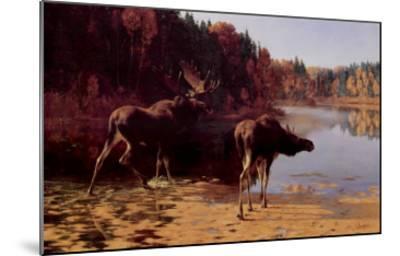 Monarchs of the Wilderness-Carl Rungius-Mounted Art Print