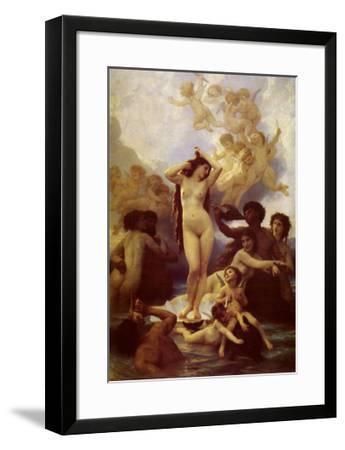 La Naissance de Venus-William Adolphe Bouguereau-Framed Art Print