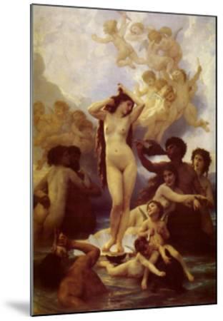 La Naissance de Venus-William Adolphe Bouguereau-Mounted Art Print