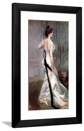 The Black Sash-Giovanni Boldini-Framed Art Print
