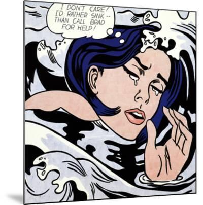 Drowning Girl-Roy Lichtenstein-Mounted Art Print
