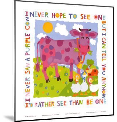 Purple Cow-Cheryl Piperberg-Mounted Art Print