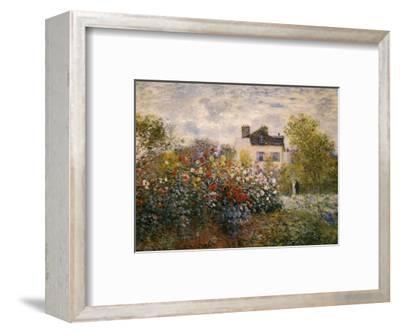 The Artist's Garden at Argenteuil-Claude Monet-Framed Art Print