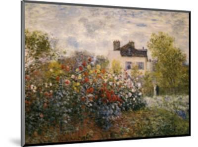 The Artist's Garden at Argenteuil-Claude Monet-Mounted Art Print