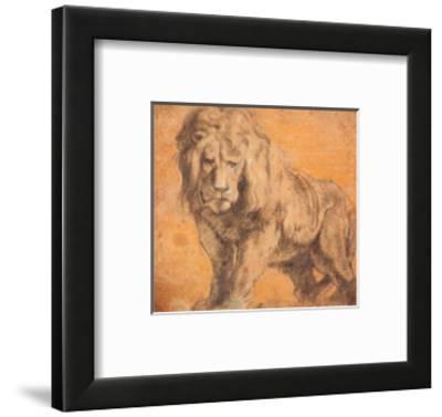 Lion-Peter Paul Rubens-Framed Art Print