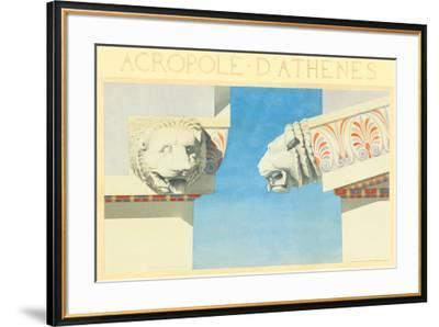 Acropole-Marcel Lambert-Framed Art Print