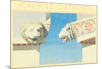 Acropole-Marcel Lambert-Mounted Art Print