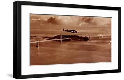 Amelia Earhart in Flight, Oakland to Honolulu, March 17, 1937-Clyde Sunderland-Framed Art Print