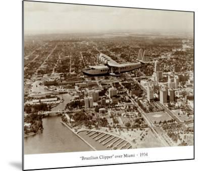 Brazilian Clipper over Miami, 1934--Mounted Art Print