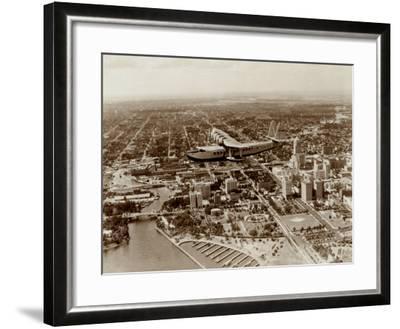 Brazilian Clipper over Miami, 1934--Framed Art Print
