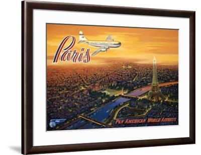 Over Paris-Kerne Erickson-Framed Art Print