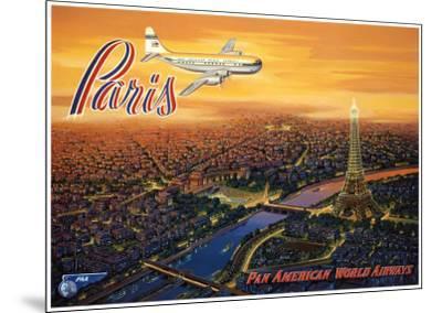 Over Paris-Kerne Erickson-Mounted Art Print