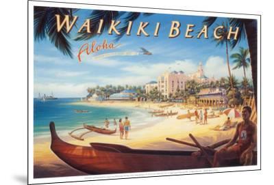 Waikiki Beach-Kerne Erickson-Mounted Art Print