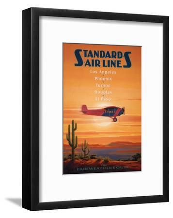 Standard Airlines, El Paso, Texas-Kerne Erickson-Framed Art Print